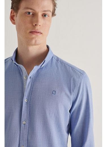 Avva Erkek   Gömlek A11Y2026 Mavi